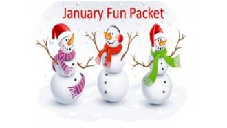 January Fun Packet with snowmen