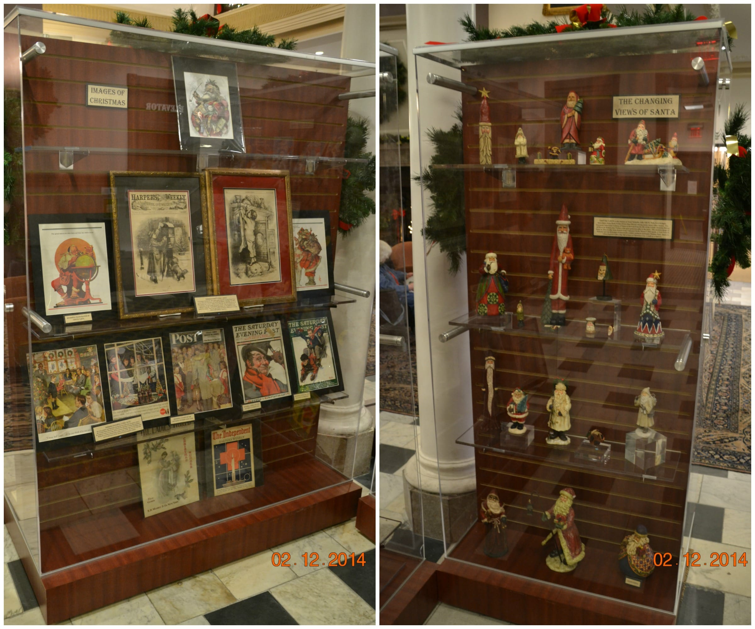 Images of Christmas and Changing Views of Santa Displays